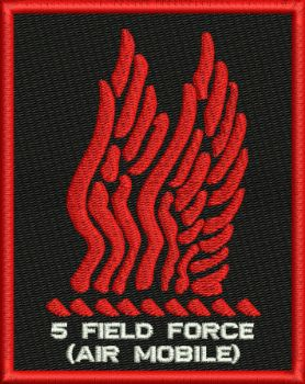 5 Field Force (Air Mobile Embroidered Badge